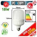 Bombilla LED E27 B22 18W Luz Blanca 6500K Bajo Consumo Alto Brillo Flat
