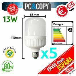 Bombilla LED E27 13W Luz Blanca 6500K Bajo Consumo Alto Brillo