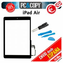 PANTALLA TACTIL IPAD AIR NEGRA TOUCH SCREEN + ADHESIVO + HOME + Herramientas