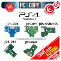 Conector Carga Mando PlayStation 4 placa corriente PS4 con flex JDS050 011 001 030 040 Power Jack