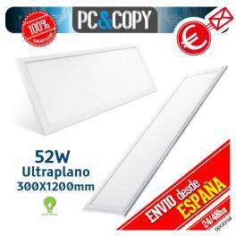 Panel LED 52W 400x1100mm 3780lm Luz Blanca Rectangular Ultraplano Empotrable