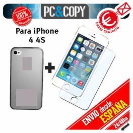 Funda gel TPU flexible transparente para iphone 4 4S. Ultra-thin cover iPhone 4