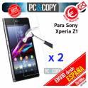 Pack 2 Cristal templado protector pantalla Sony Xperia Z1 C6902/L39h Premium 0,3mm 9H