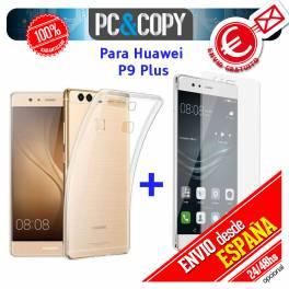 Funda gel TPU flexible 100% transparente HUAWEI P9 Plus VIE-L09