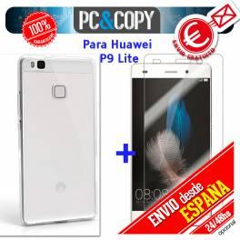 Funda gel TPU flexible 100% transparente HUAWEI P9 Lite ultrafina ligera