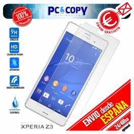 Cristal templado protector pantalla Sony Xperia Z3 calidad Premium 0,3mm 9H