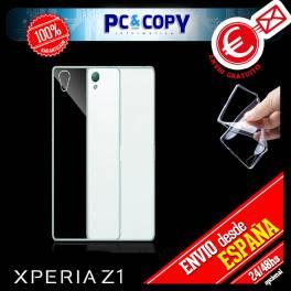 Funda gel TPU flexible 100% transparente para SONY Xperia L39H Z1