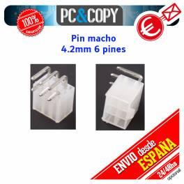 4,2mm 6 pin macho Pin 0.165 tarjeta gráfica conector de alimentación