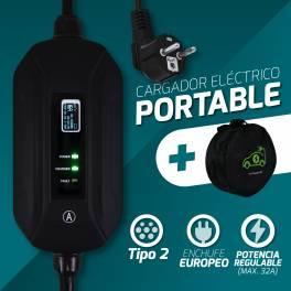CARGADOR EV PARA COCHE ELÉCTRICO EV CHARGER TYPE 2 16A regulable portable