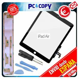 PANTALLA TACTIL IPAD AIR NEGRA DIGITALIZADOR TOUCH SCREEN iPadAir + ADHESIVO Y HERRAMIENTAS