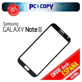 CRISTAL PANTALLA TACTIL SAMSUNG GALAXY NOTE 2 N7100 NEGRO DIGITALIZADOR NOTE II