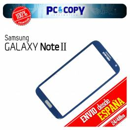 CRISTAL PANTALLA TACTIL SAMSUNG GALAXY NOTE 2 N7100 AZUL DIGITALIZADOR NOTE II