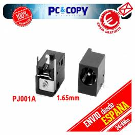 CONECTOR DC POWER JACK PJ001A - 1.65mm FUJITSU SIEMENS ACER ASPIRE HP PAVILLION